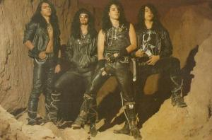 Sarcofago on the back-cover of the inimitable The laws of scourge
